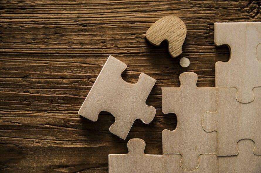 puzzle pieces close up