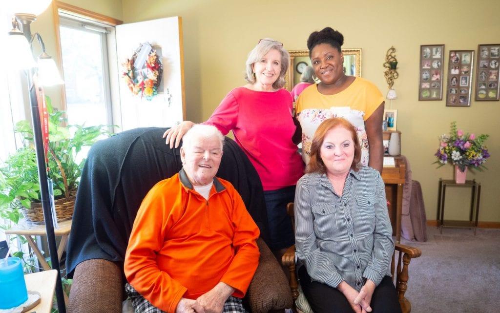 Frank DeYoe with his volunteer, daughter, and volunteer manager Sylvia