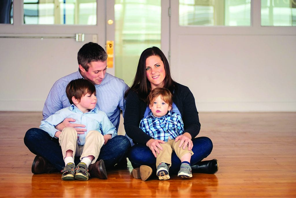 The Rubin family, katie, husband, kids