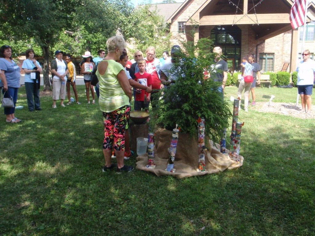 Evergreen tree ceremony